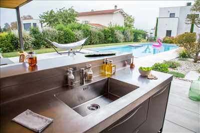 Exemple cuisine d'extérieur n°285 zone Charentes-Maritimes par ATLANTIC INOX