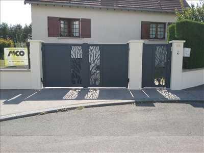 Exemple Pose de clôture n°417 zone Côte-d'Or par Manale